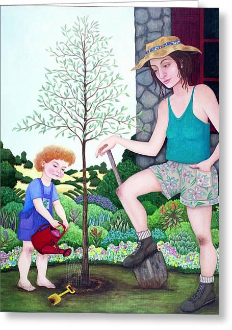 So Grows The Tree Greeting Card by Melinda Gay