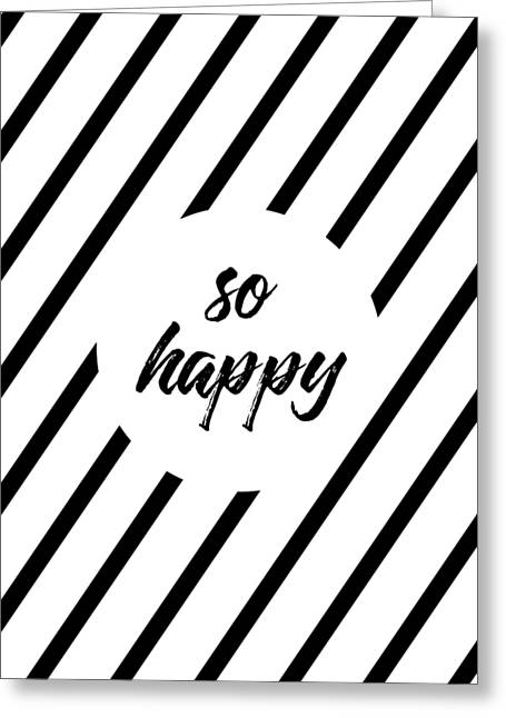 So Happy - Cross-striped Greeting Card
