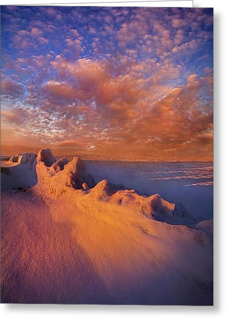 Greeting Card featuring the photograph So It Begins by Phil Koch
