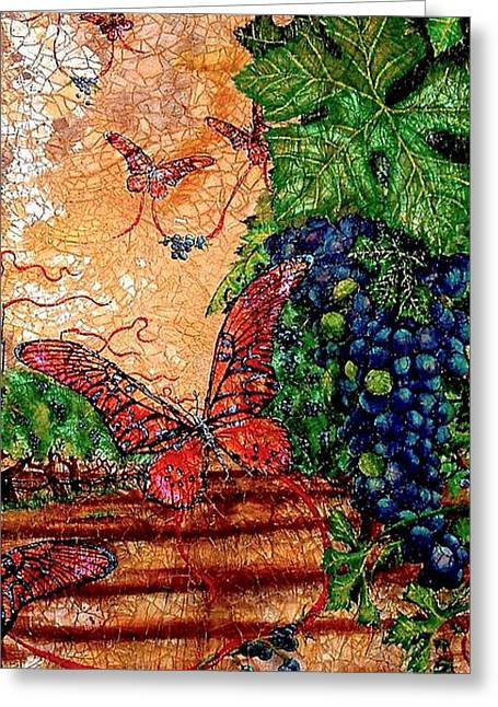 So Long And Thanks For All The Grapes Greeting Card by Ron Carter