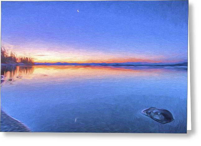 So Quiet II Greeting Card by Jon Glaser