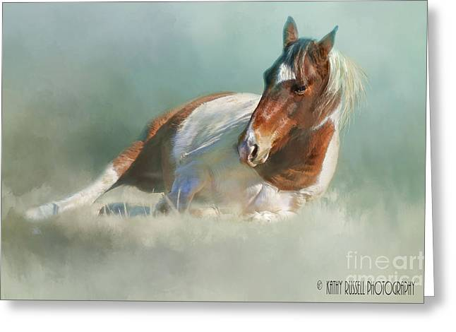 Soaking Up Some Sun Greeting Card by Kathy Russell