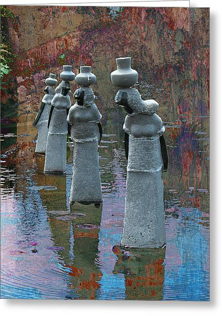 Soapstone Sculptures  Greeting Card by Bette Levine