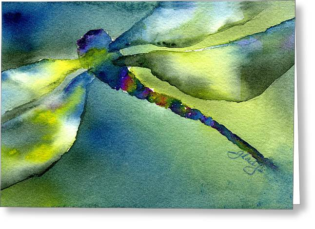Loose Greeting Cards - Soaring Dragonfly Greeting Card by Gladys Folkers