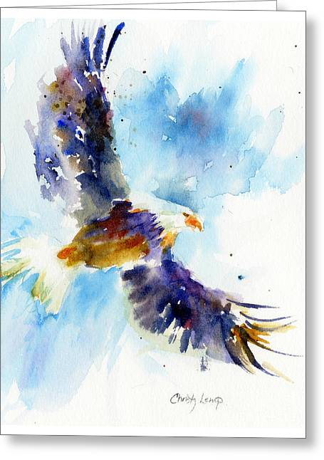Soaring Eagle Greeting Card by Christy Lemp