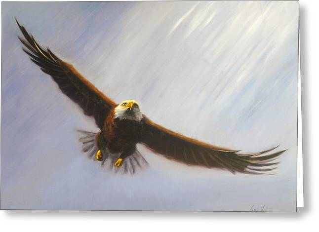 Soaring Eagle Greeting Card by Greg Neal