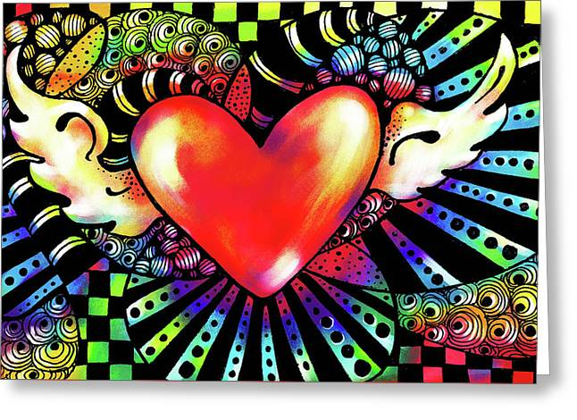Soaring Heart Coloration Greeting Card