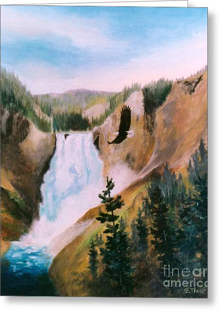 Greeting Card featuring the painting Soaring High II by Brenda Thour