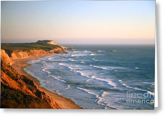 Socal Sunset Ocean Front Greeting Card