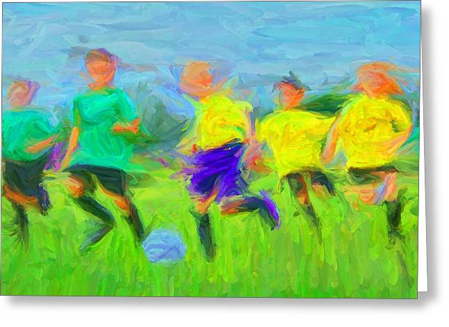 Soccer 3 Greeting Card