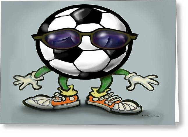 Soccer Cool Greeting Card by Kevin Middleton
