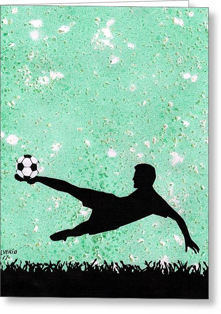 Soccer Crowd Greeting Card by Edwin Alverio
