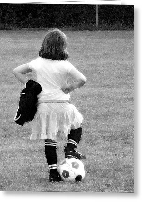 Soccer Fashionista Greeting Card by Keith Campagna