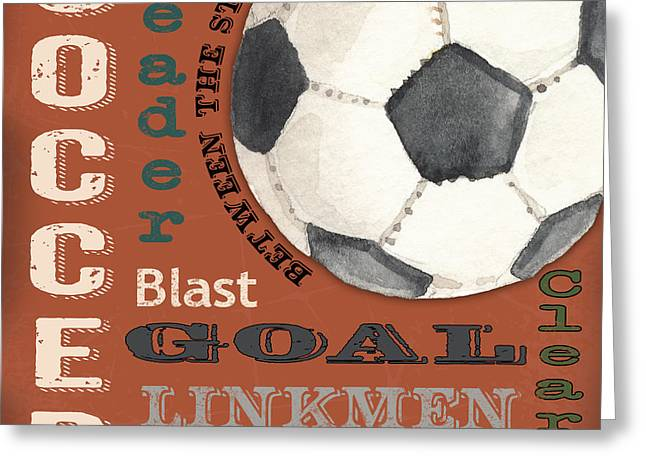 Soccer-jp3522 Greeting Card by Jean Plout