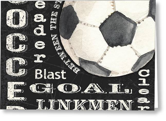 Soccer-jp3525 Greeting Card by Jean Plout