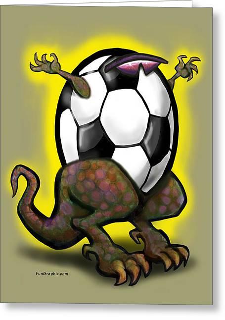 Soccer Zilla Greeting Card