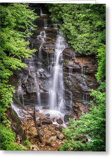 Greeting Card featuring the photograph Socco Falls by Stephen Stookey