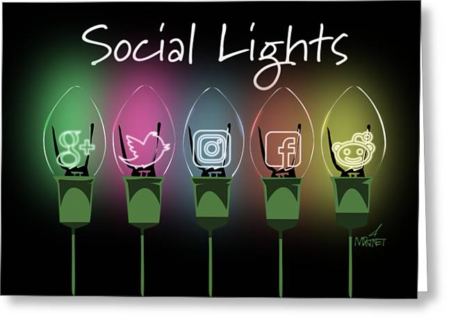 Social Lights Greeting Card