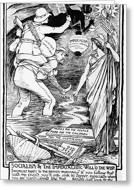 Socialism And The Imperialistic Will O The Wisp Greeting Card by Walter Crane