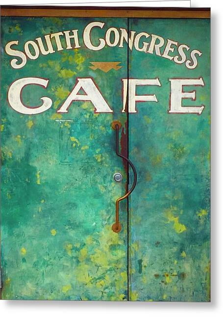 Soco Cafe Doors Greeting Card