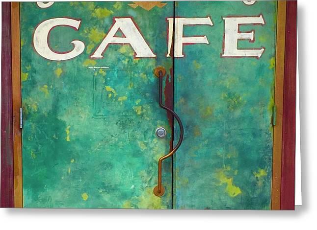 Soco Cafe Doors Greeting Card