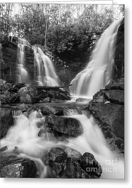 Soco Falls - D009628-bw Greeting Card by Daniel Dempster