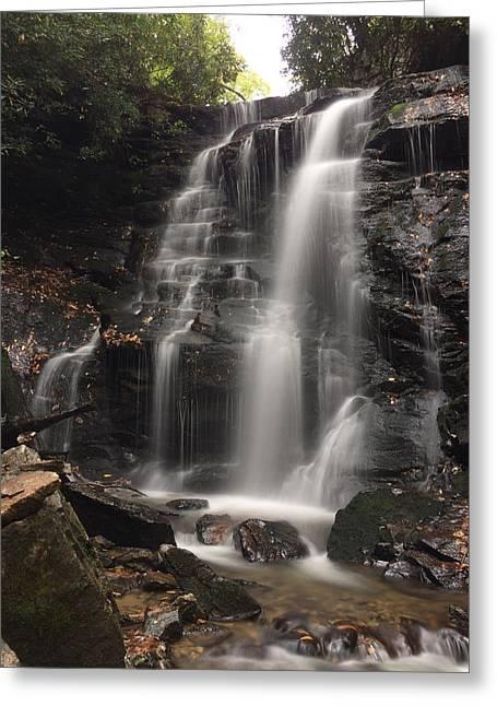 Soco Falls-portrait Version Greeting Card