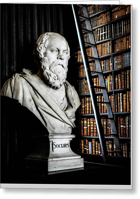 Socrates A Writer Of Knowledge Greeting Card by Lexa Harpell