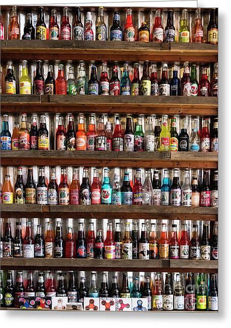 Soda Bottles Greeting Card