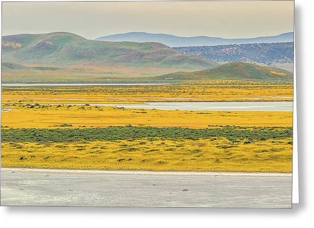 Greeting Card featuring the photograph Soda Lake To Caliente Range by Marc Crumpler