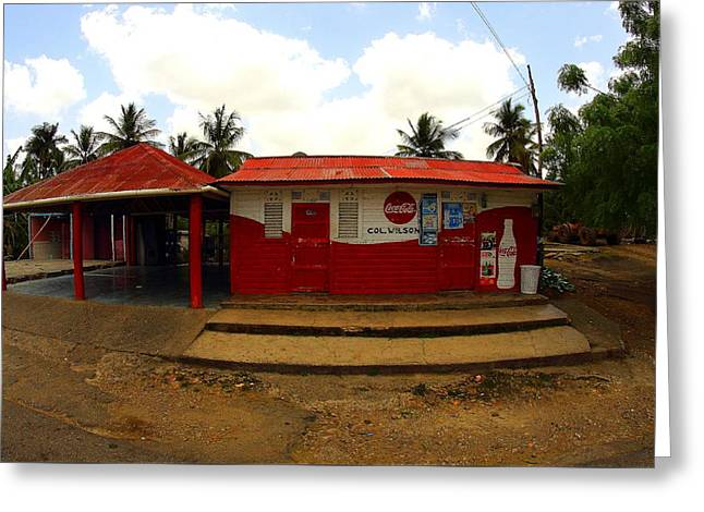 Dominican Soda Shop Greeting Card by Brian Manfra
