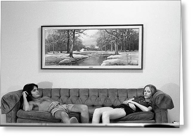 Sofa-sized Picture, With Light Switch, 1973 Greeting Card