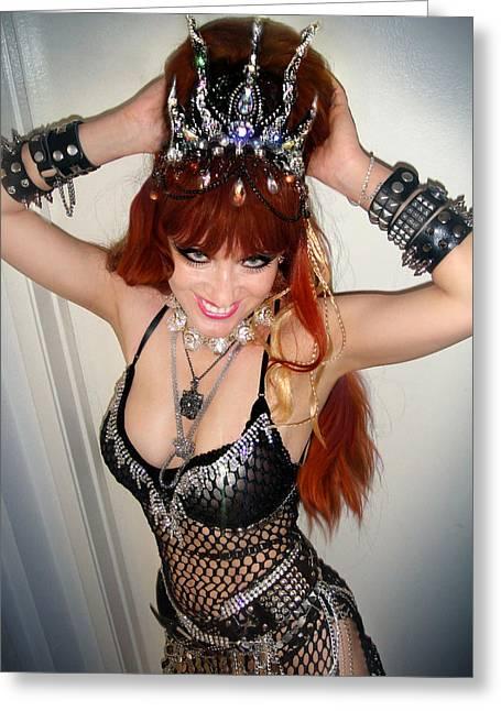 Sofia Metal Queen - Glam Rock - Fashion Model Greeting Card