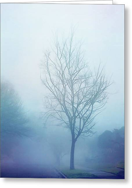 Soft And Blue Greeting Card