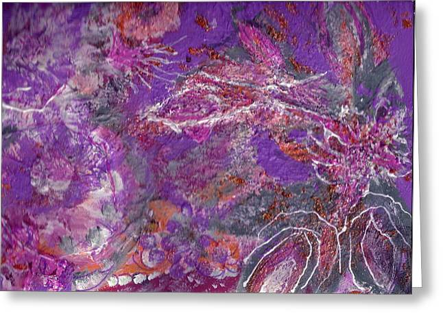 Soft And Dreamy Thoughts Of You Greeting Card by Anne-Elizabeth Whiteway
