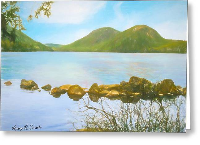 Soft Art Photograph Jordan Pond Acadia Nat. Park Maine Greeting Card