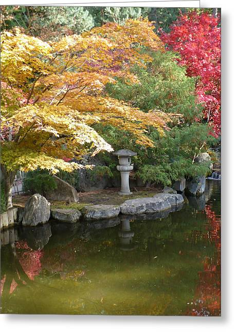 Soft Autumn Pond Greeting Card by Carol Groenen