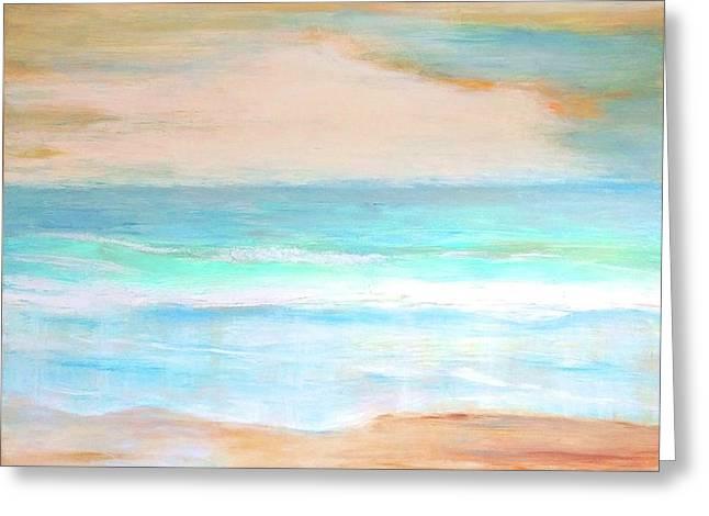 Soft Beachy Feel Abstract Greeting Card by Carlin Blahnik