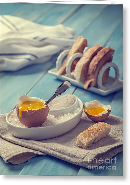 Soft Boiled Egg Greeting Card by Amanda Elwell