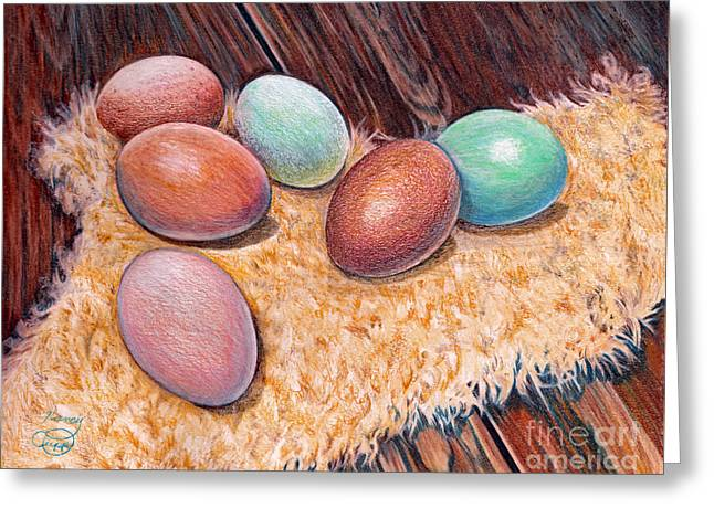 Soft Eggs Greeting Card