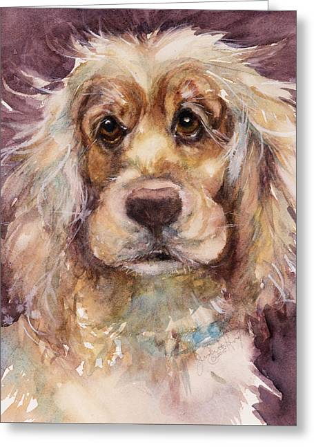 Soft Eyes Greeting Card by Judith Levins