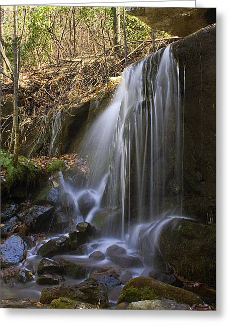Greeting Card featuring the photograph Soft Falls by Alan Raasch