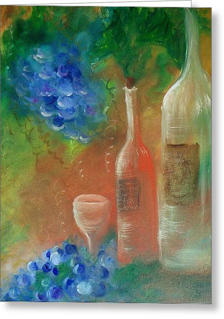 Soft Lite Wine Greeting Card by Lynda McDonald