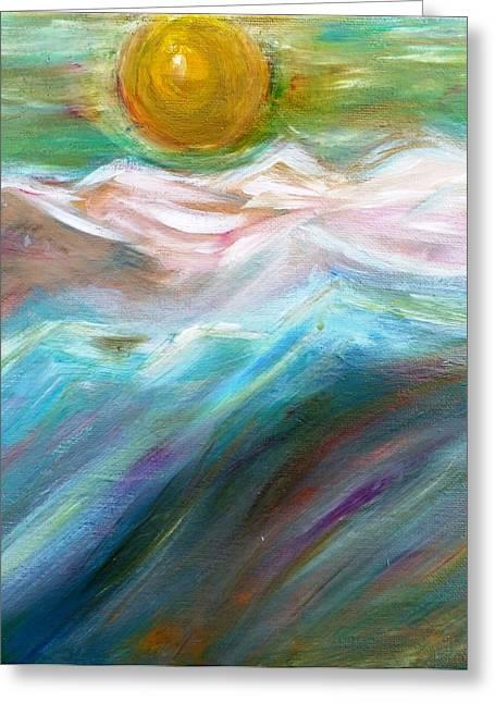 Soft Moon Night Greeting Card by Amy Drago