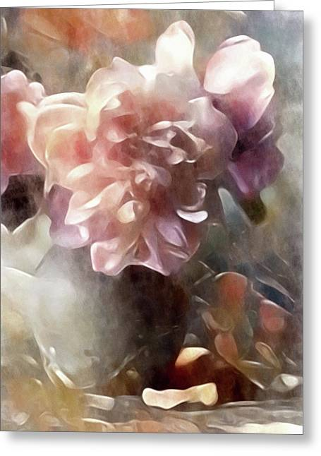 Soft Pastel Peonies Greeting Card