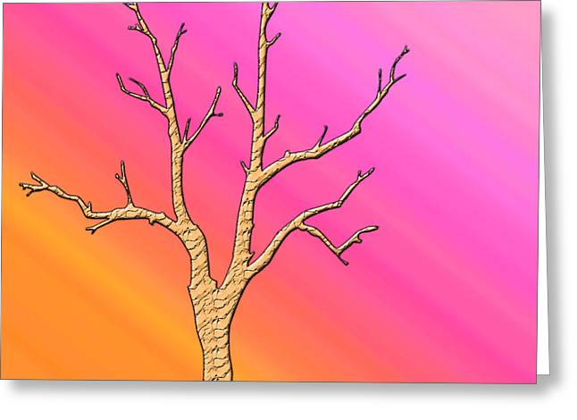 Soft Pastel Tree Abstract Greeting Card by Aimee L Maher Photography and Art Visit ALMGallerydotcom