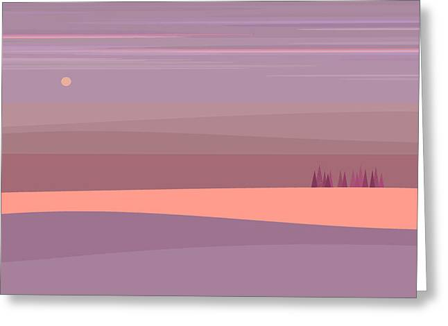 Soft Purple Landscape Greeting Card
