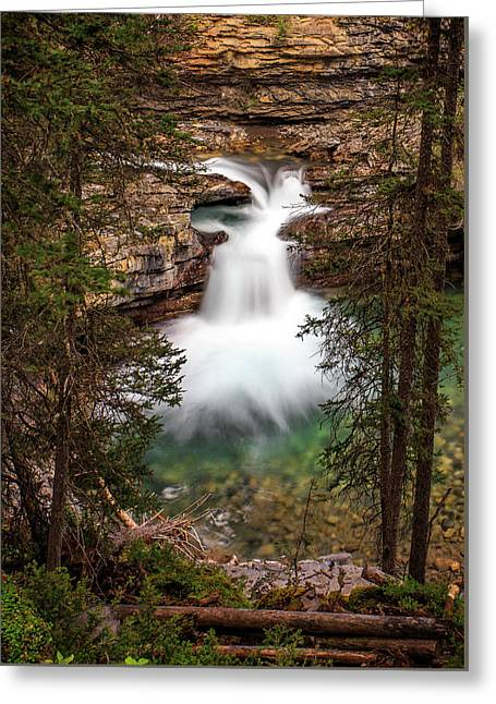 Greeting Card featuring the photograph Soft Smooth Waterfall by Darcy Michaelchuk