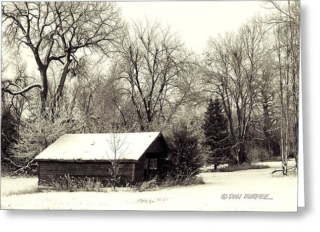 Greeting Card featuring the photograph Soft Snow Cover by Don Durfee