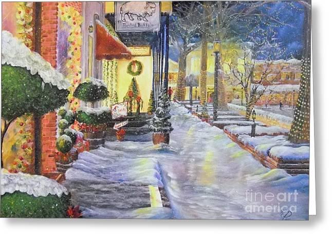 Soft Snowfall In Dahlonega Georgia An Old Fashioned Christmas Greeting Card